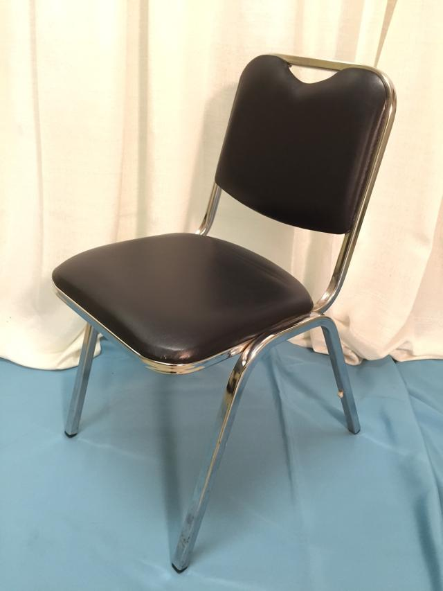 Where to find Chair, Black Pad. Chrome Stacking in Lansing