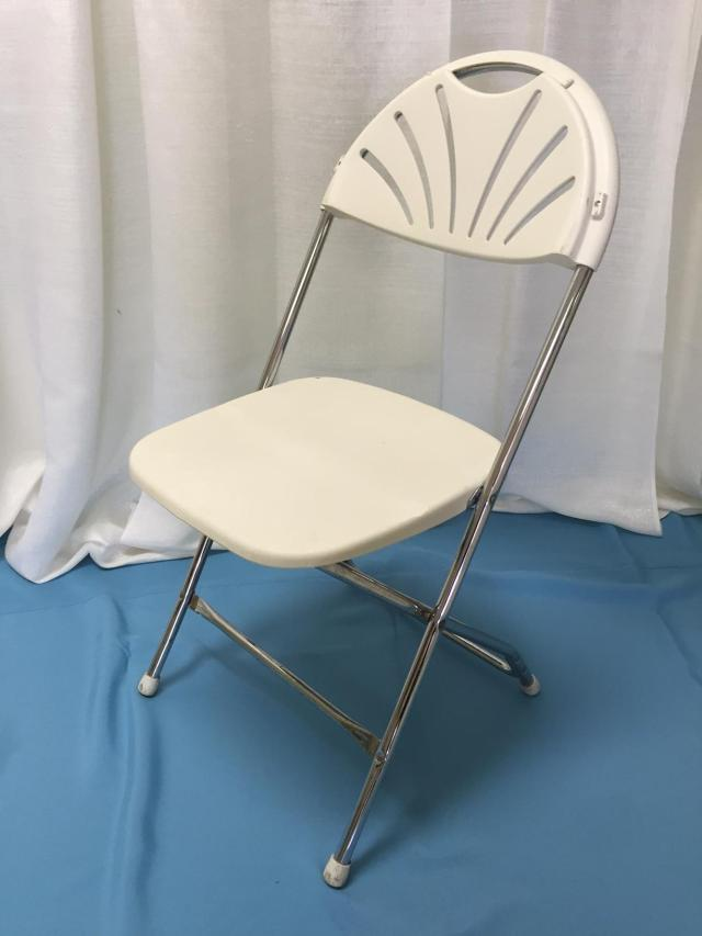 Where to find Chair, White Fanback in Lansing