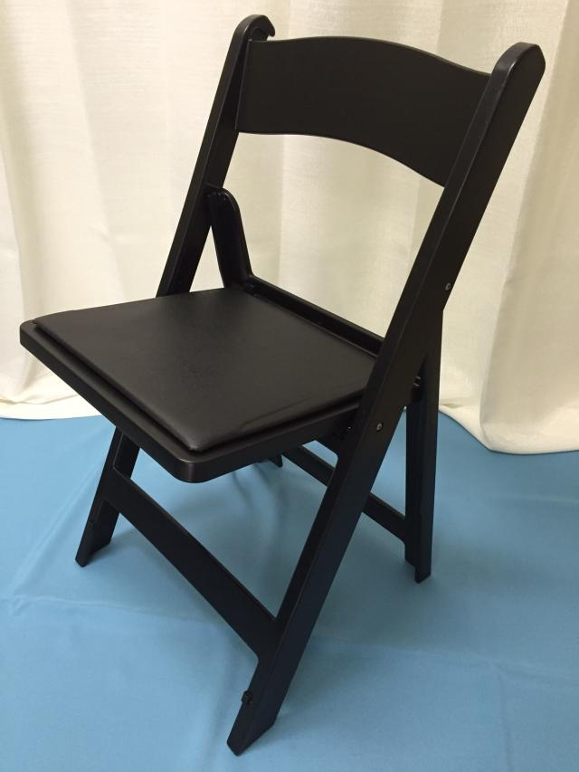 Where to find Chair, Black Padded Folding in Lansing