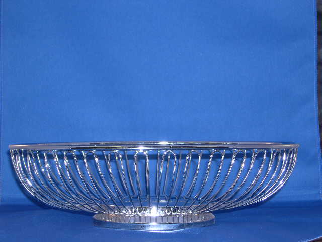 Where to find Basket, Bread - Silver Oval in Lansing