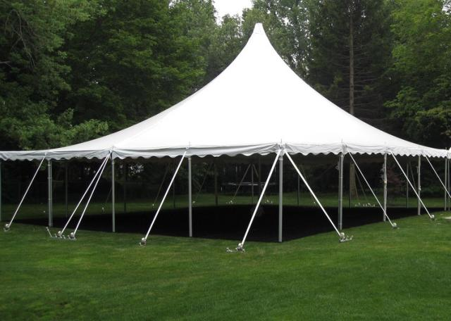 40w All White Canopy Anchor 40x40 Rentals Lansing Mi