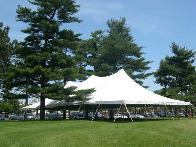 40w All White Canopy Anchor 40x80 Rentals Lansing Mi