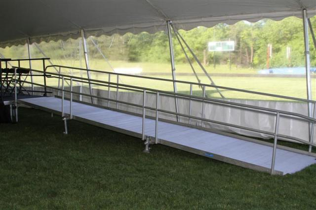 Where to find Stage Ramp w Rail Kit.  ADA Compliant in Lansing