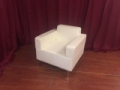 Rental store for Soft seating, White Leather Arm Chair in Lansing MI