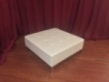 Rental store for Soft seating, White Leather Ottoman in Lansing MI