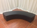 Rental store for Soft seating, Black Serpentine Bench in Lansing MI
