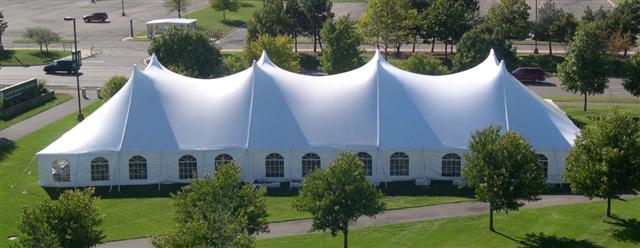 Rent Pole Tent, 60w  All White