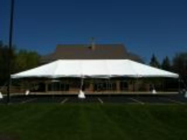 Rent Frame Tent, 30w Deluxe.  Clear Tops And White Tops